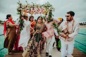 power entrance of bride